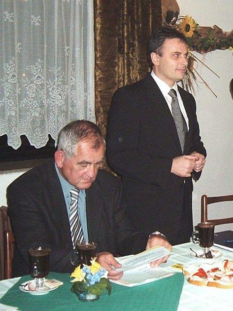 Jiří Liška (sedící) a Zdeněk Lhota.