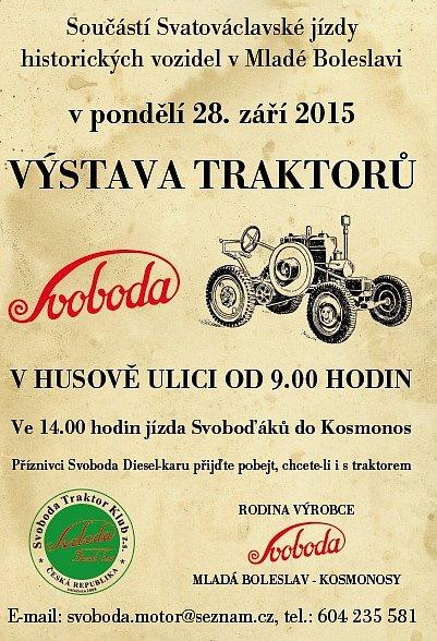 Traktory Svoboda - pozvánka.