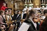 Koncert symfonických orchestrů v jičínském kostele sv. Jakuba.