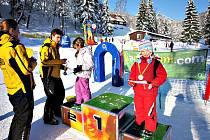 Škola lyžování ostruženských dětí.