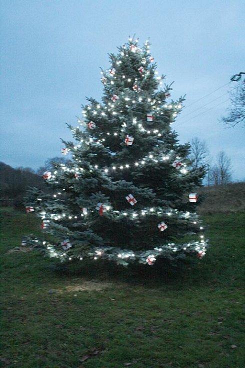 Vánoční strom ve Vidochově.
