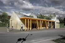 Projekt modernizace hořického autobusového nádraží.