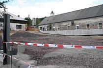 Výstavba nového sběrného dvora v Sobotce.