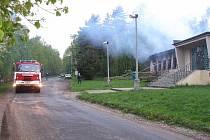 Kulturní dům po požáru.