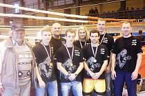 Medailisté, spokojená výprava jičínských boxerů.