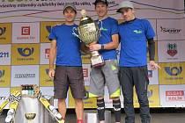 Úspěšní bikeři Dan Polman, Ondřej Mikule a Martin Kohl.