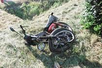 Nehoda motocyklisty u Dolní Nové Vsi.