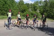 Ze závodů paracyklistů v Mostu.