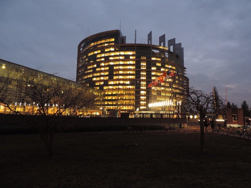 Budova Evropského parlamentu ve Štrasburku.