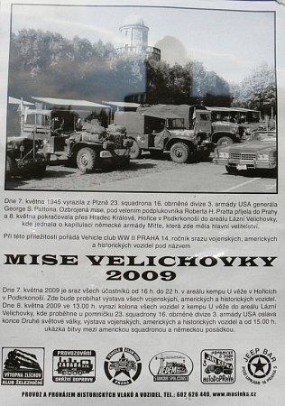 Hořicemi projeli američtí autoveteráni vrámci Mise Velichovky 2009.