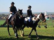 Závody v parkuru přilákaly jezdce i diváky.
