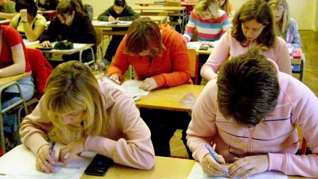 Testování kopidlenských žáků Centrem pro zjišťování výsledků vzdělávání.