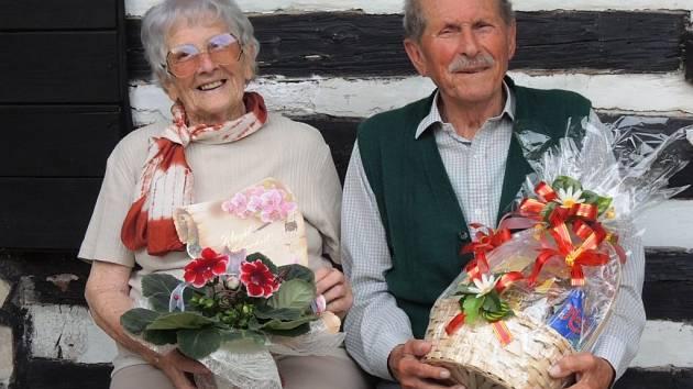 Maria a Jan Zástavovi oslavili platinovou svatbu, tedy 70 let společného života.