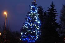 Vánoční strom v Běcharech.