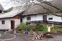 Požár kotelny domu v Kumburském Újezdu.