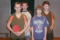 Mistři z Kopidlna - zleva Vojta Slavík, Adam Hendrych, Ivo Miške a Pavel Kodet.