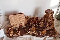 ORIGINALNÍ VÝROBEK novopackých pekařů, který získal  v Brně na Salimě zlato. Myslivcův rok je vytvořen ze speciálního těsta, recept je prý tajný.