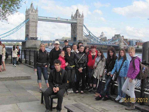 Kopidlenští studenti v Londýně.