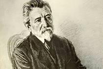 Portrét Karla Václava Raise od Maxe Švabinského.