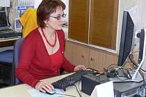 Marie Faruzelová v naší redakci.