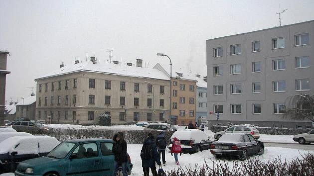 Zima v Jičíně.
