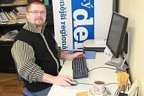 Jan Jiterský při on-line rozhovoru.