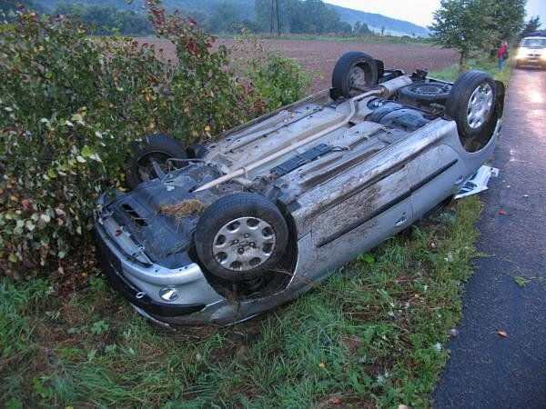 Dopravní nehoda u Lukavce.