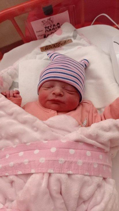Petra Marika Ročňová z Náchoda se narodila 27. srpna 2021 ve 20:49 hodin. Holčička vážila 2835 gramů a měřila 48 centimetrů. Radují se z ní šťastní rodiče Markéta a Petr Ročňovi i sourozenci Barbora (8let) a Jakub (10let).