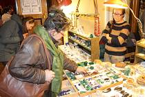 Výstava minerálů v Masarykově divadle.