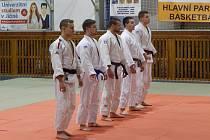 Družstvo SKP Judo Jičín, z.s. ve složení: zleva M. Černý, J. Zachoval, M. Vaníček, P. Matějka a J. Krejčík.