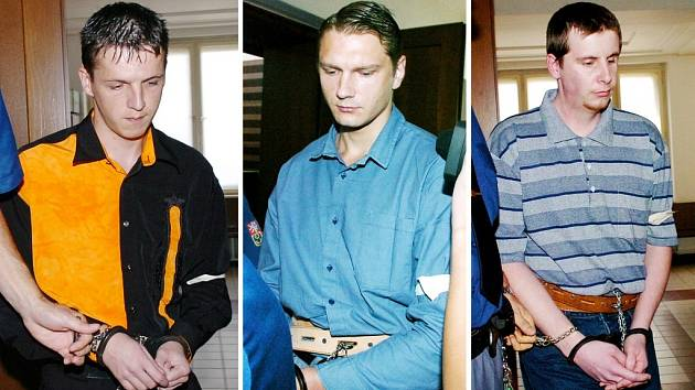 Obžalovaní zleva Tibor Zeman, Pavel Feierfeil a Jiří Salavec.