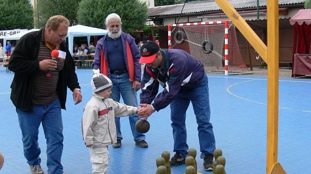 Pro děti byly připraveny zábavné hry.