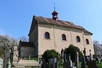 Kostel Všech svatých pod Zebínem.