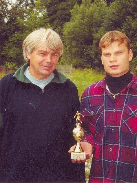 Zdeněk Urban (vlevo) a Antonín Kraus, kteří stáli před šesti lety u postupu SK Miletín z okresního přeboru.