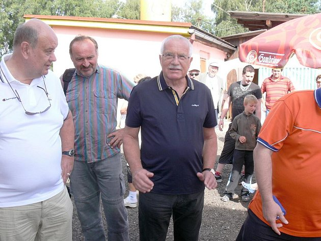 Václav Klaus v Dřevěnici.