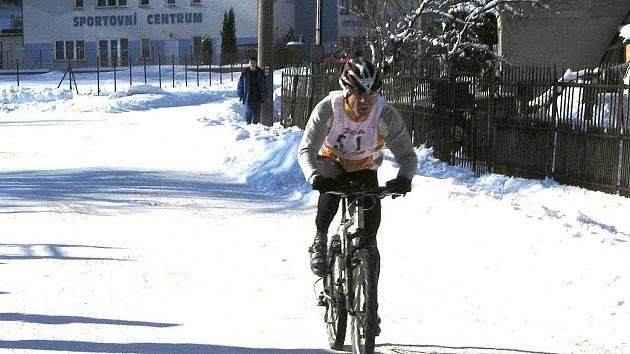 Ze závodu Zimní král: Rudolf Cogan.