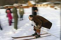 Historické lyžování na Pecce.