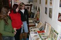 Výstavu v domě U Zlatého lva v Jičíně navštěvuje hlavně školní mládež.