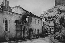 Historická hořická židovská synagoga.