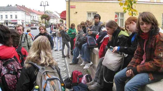 Studenti z Chotěbuzi na návštěvě Hořic
