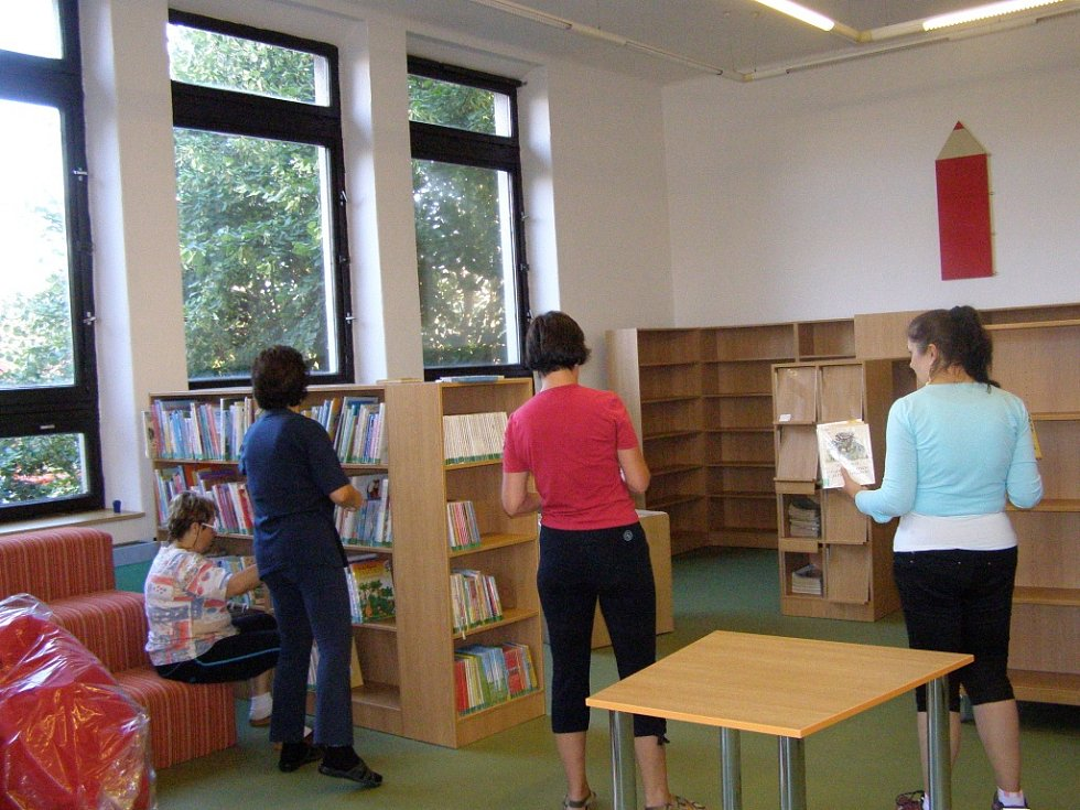 Dětské oddělení jičínské knihovny po rekonstrukci.