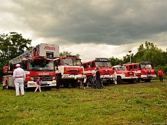 Na Kopidlenských slavnostech se předvedli také hasiči.