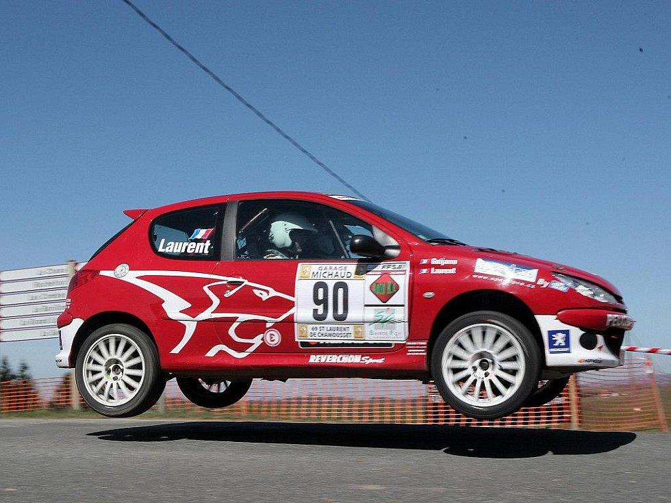 Dominik Laurent na francouzské rally.