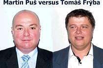 Martin Puš versus Tomáš Frýba.