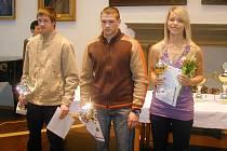 Tomáš Vaníček (vlevo), Michal Vaníček (uprostřed). Oba trénuje otec Luděk Vaníček. Třetí je basketbalistka Kateřina Vařechová.
