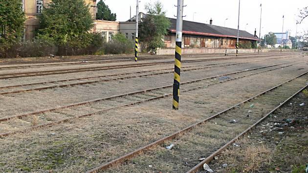 Prostor bývalého jičínského nákladového nádraží.