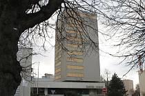 Jičínský hotel Start během rekonstrukce.
