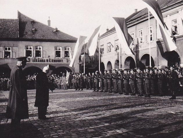 Prezident Edvard Beneš v Jičíně roku 1946.