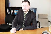 Nový ředitel Vodohospodářské a obchodní společnosti Richard Smutný.