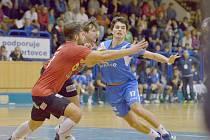 Jičínská spojka Martin Loskot v domácím utkání týmu se Zubří.